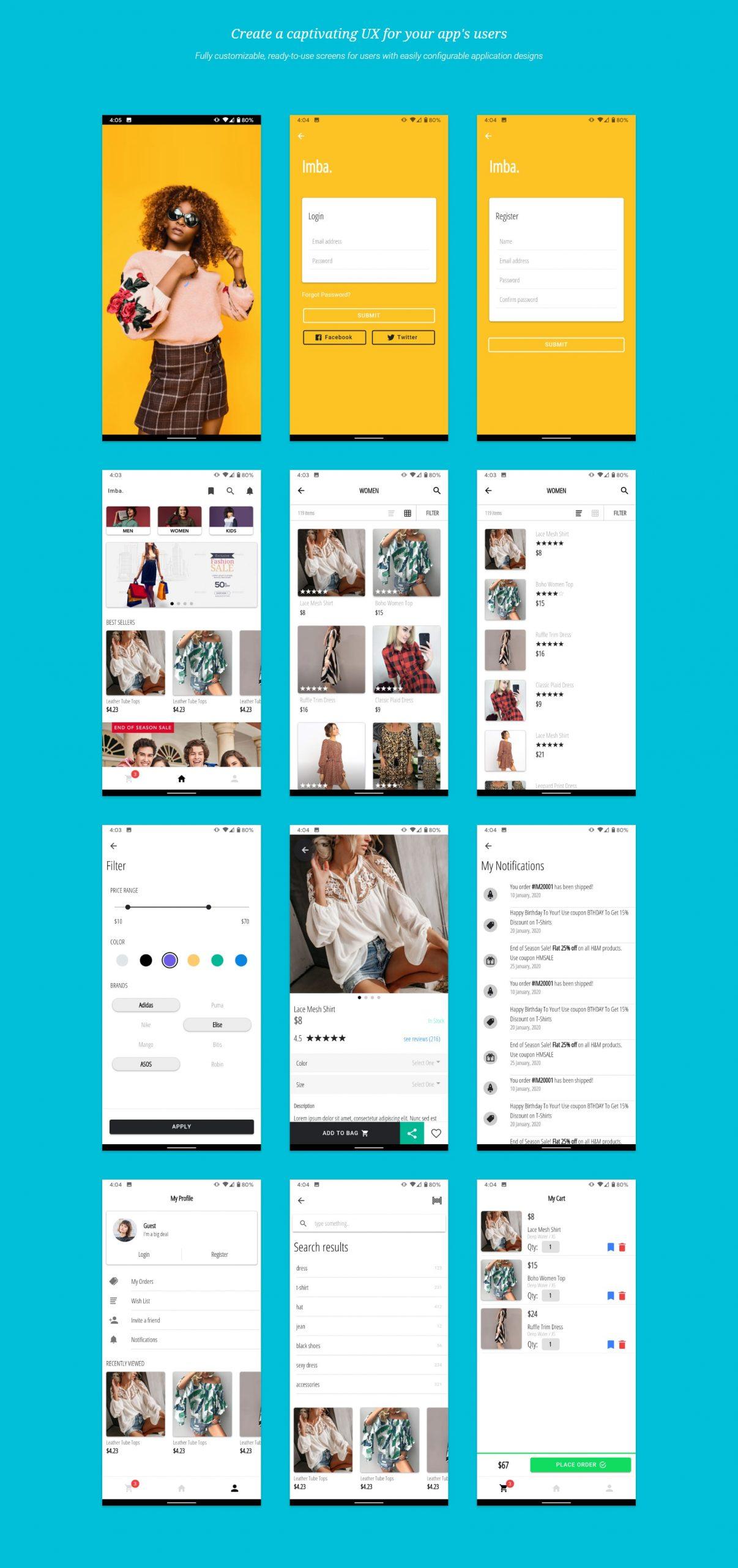 Ionic 5 Angular E-commerce App Template - 1